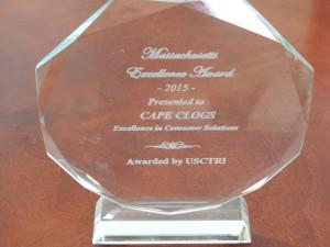 Cape Clogs receives a 2015 Massachusetts Excellence award