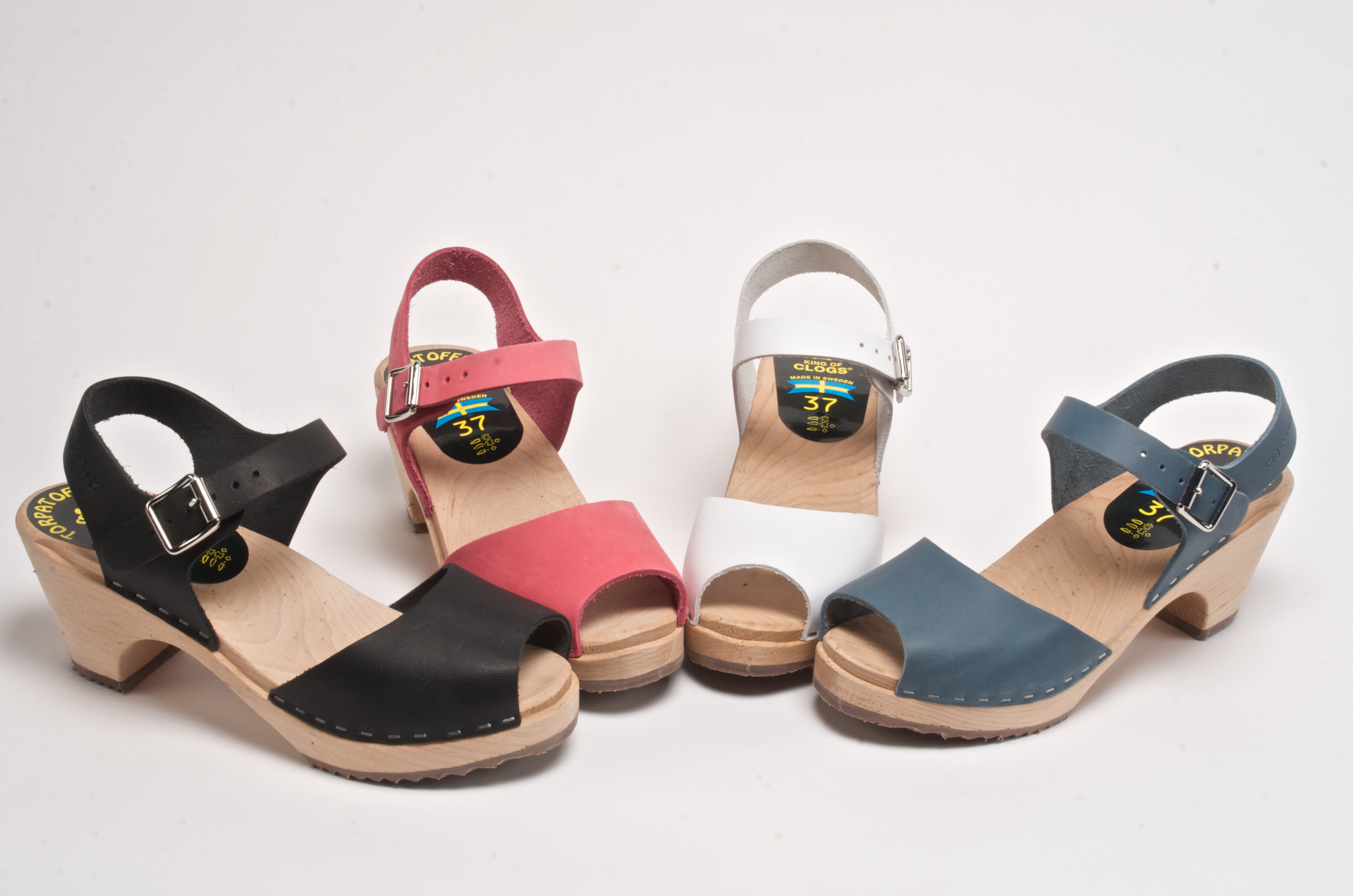 New Spring Colors in Cape Clogs' Sundial Open Peep Toe Sandal